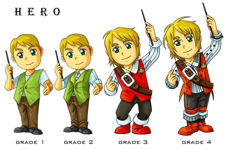 #23 for Cartoon Style Game Character Illustration Contest by satherghoees1