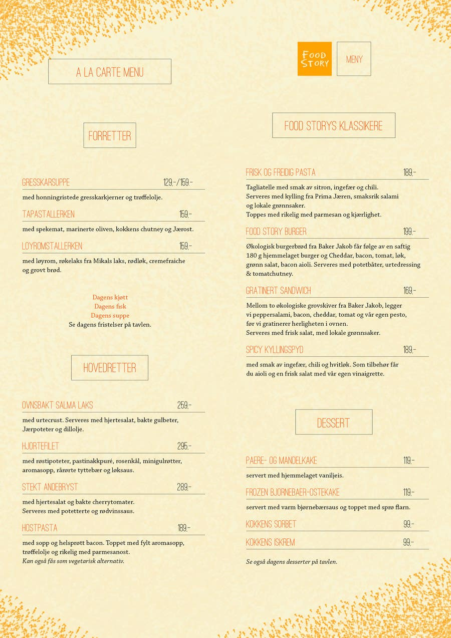 Bài tham dự cuộc thi #                                        24                                      cho                                         Create a background for a restaurant menu.