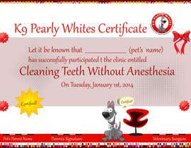 #20 for Design A Dog Teeth Cleaning Certificate by karachipages