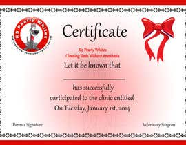 #48 for Design A Dog Teeth Cleaning Certificate by karachipages