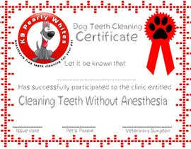 #49 for Design A Dog Teeth Cleaning Certificate by stajera