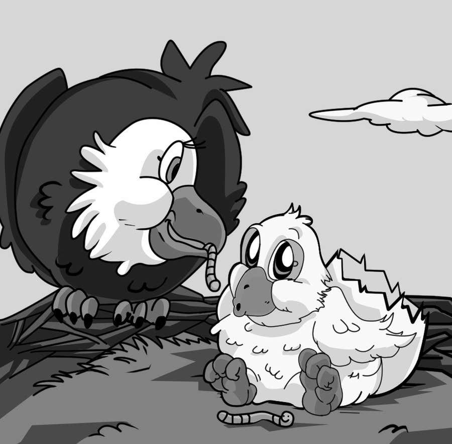 #28 for Illustrating 3 pictures of an eagle baby by v9s2
