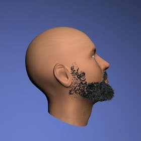 #24 for Create realistic 3D beard for interactive viewing by handras88