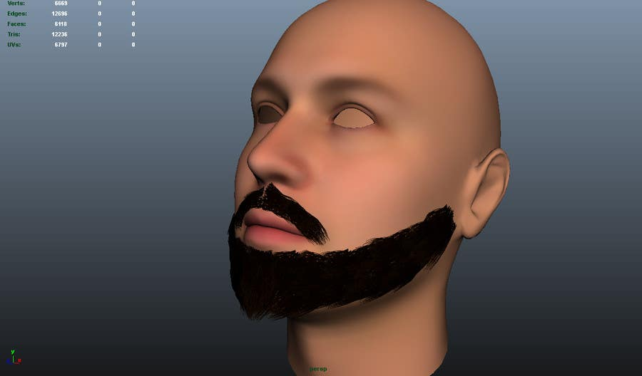 #34 for Create realistic 3D beard for interactive viewing by guidokraaijeveld