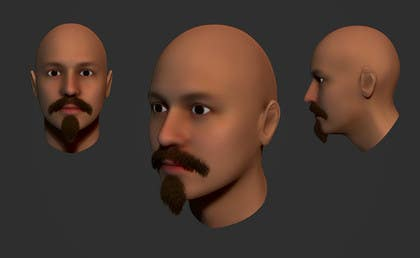 #3 for Create realistic 3D beard for interactive viewing by DedaDjoka