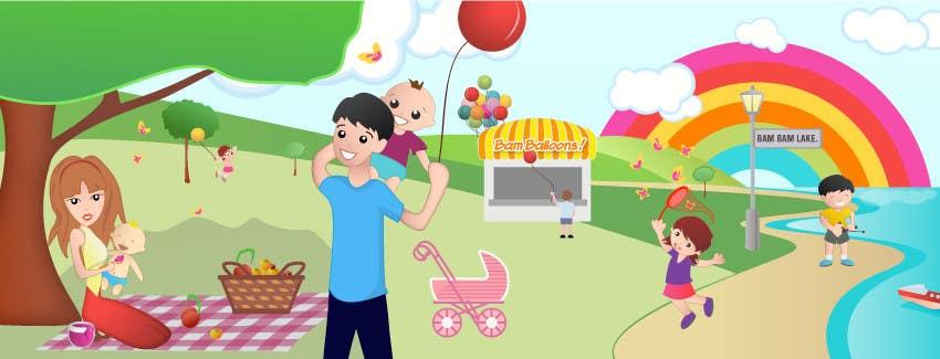 Konkurrenceindlæg #                                        24                                      for                                         Illustration Design for Bambino Brands Facebook Timeline