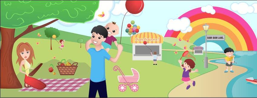 Konkurrenceindlæg #                                        11                                      for                                         Illustration Design for Bambino Brands Facebook Timeline
