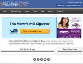 #59 untuk Design a Logo for An Electronic Cigarette Blog oleh dindinlx
