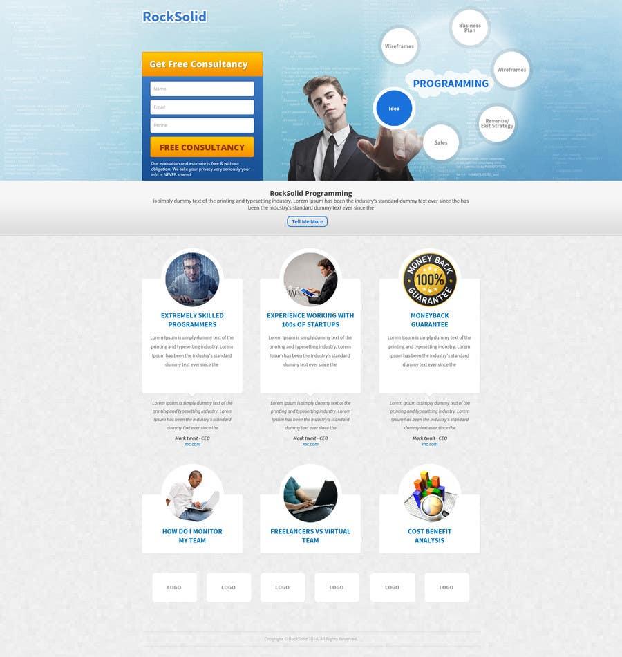Proposition n°18 du concours Design a Landing Page + Form