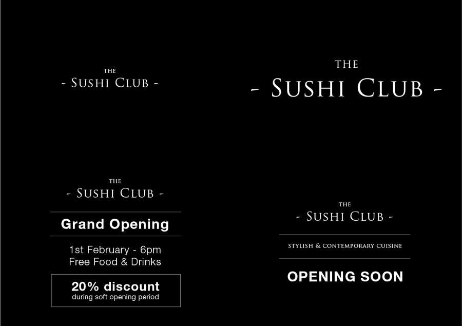 """Proposition n°1 du concours Design banner and Business Card for """"The Sushi Club"""""""