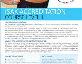 #16 for Design a Brochure for an Level 1 ISAK course the will be used as a PDF brochure only af amcgabeykoon