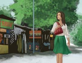 Nro 2 kilpailuun Draw a girl walking down the street käyttäjältä kobaart