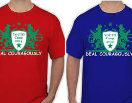 "#102 untuk Design a T-Shirt with the slogan ""Deal Courageously"" oleh sandrajoseph20"