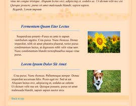 nº 26 pour Photoshop Design for a dummy newsletter par lady007