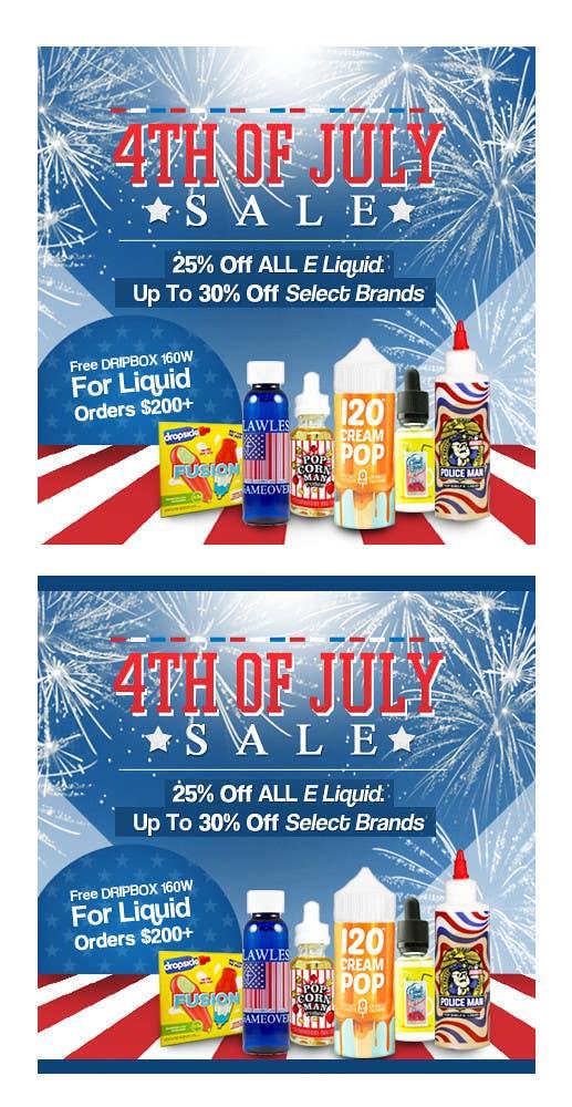 Kilpailutyö #16 kilpailussa Email Marketing Banner For July 4th (US Holiday)