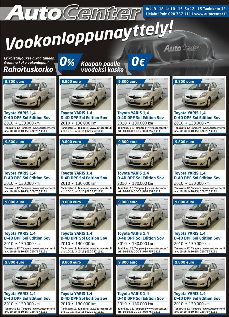 Inscrição nº 24 do Concurso para Re-design car dealer newspaper ad's