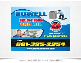 putih2013 tarafından Corel draw Design -  Yard Sign for HVAC company için no 5