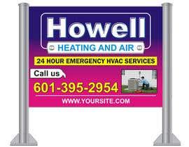 Guru2014 tarafından Corel draw Design -  Yard Sign for HVAC company için no 10