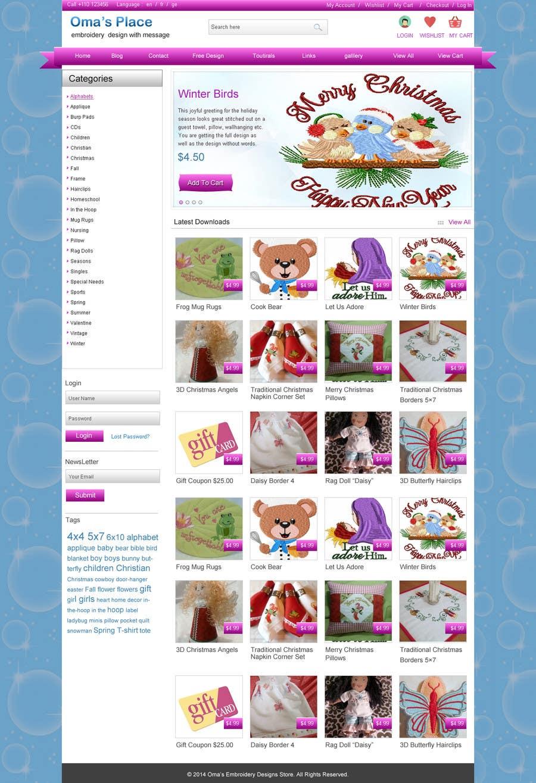 Kilpailutyö #2 kilpailussa Design a Website Mockup for Oma's Place.com