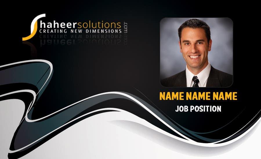Kilpailutyö #14 kilpailussa Employee Identity card design.