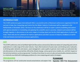 Nro 10 kilpailuun Design a conference brochure / flyer / folder käyttäjältä CreativeShaikul