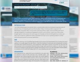 Nro 13 kilpailuun Design a conference brochure / flyer / folder käyttäjältä CreativeShaikul