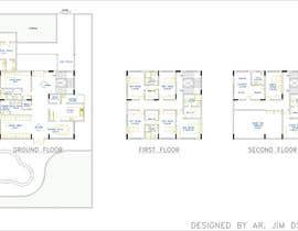 Nro 11 kilpailuun Design Concept for a two-storey House in Saudi Arabia (Floor plan, Elevations, 3D rendering) käyttäjältä jimdsouza1