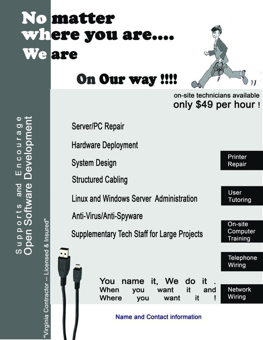 Penyertaan Peraduan #                                        5                                      untuk                                         Flyer Design for Tech Services Division