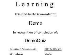 Nro 16 kilpailuun Quiz Certificate of Completion käyttäjältä ClassyEccentric