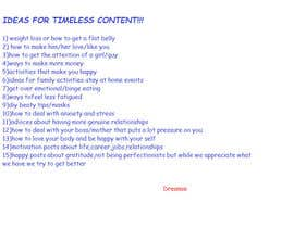 #21 for Ideas for timeless content. by Dreamie