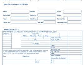 #11 for Redesign Car dealer bill of sale by Nomi1980