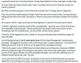 iwantworknows tarafından Writing 'news' articles about Metal Recycling in Australia için no 3