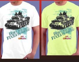 #19 untuk Design a cool T-Shirt with Tank Men and a slogan underneath oleh artist4