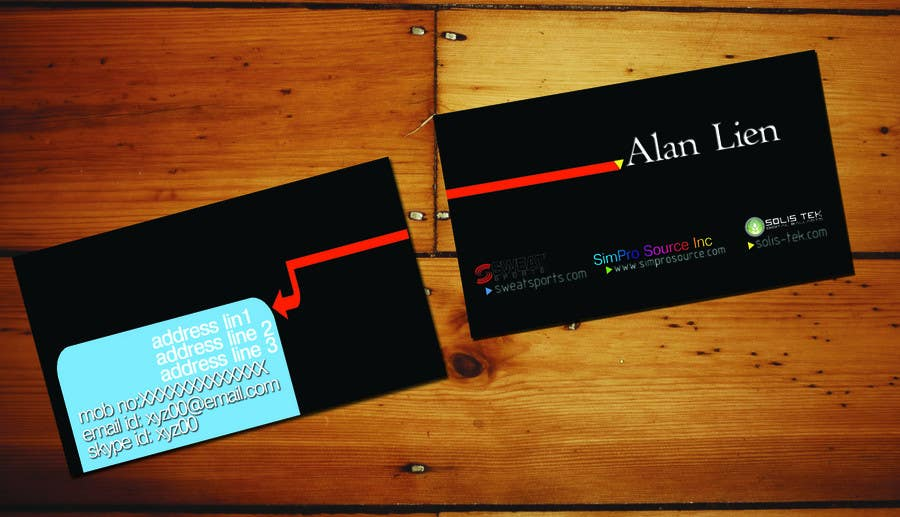 Inscrição nº                                         11                                      do Concurso para                                         Business Card Design for Alan Lien