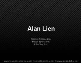 #13 para Business Card Design for Alan Lien por asvipdx