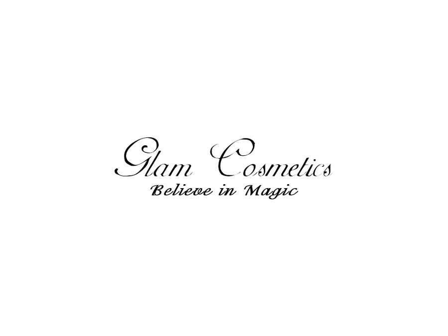 Конкурсная заявка №59 для Logo Design for Glam Cosmetics Tagline Believe in Magic