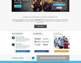 nº 11 pour Design a Website template for fundraising page par Pavithranmm