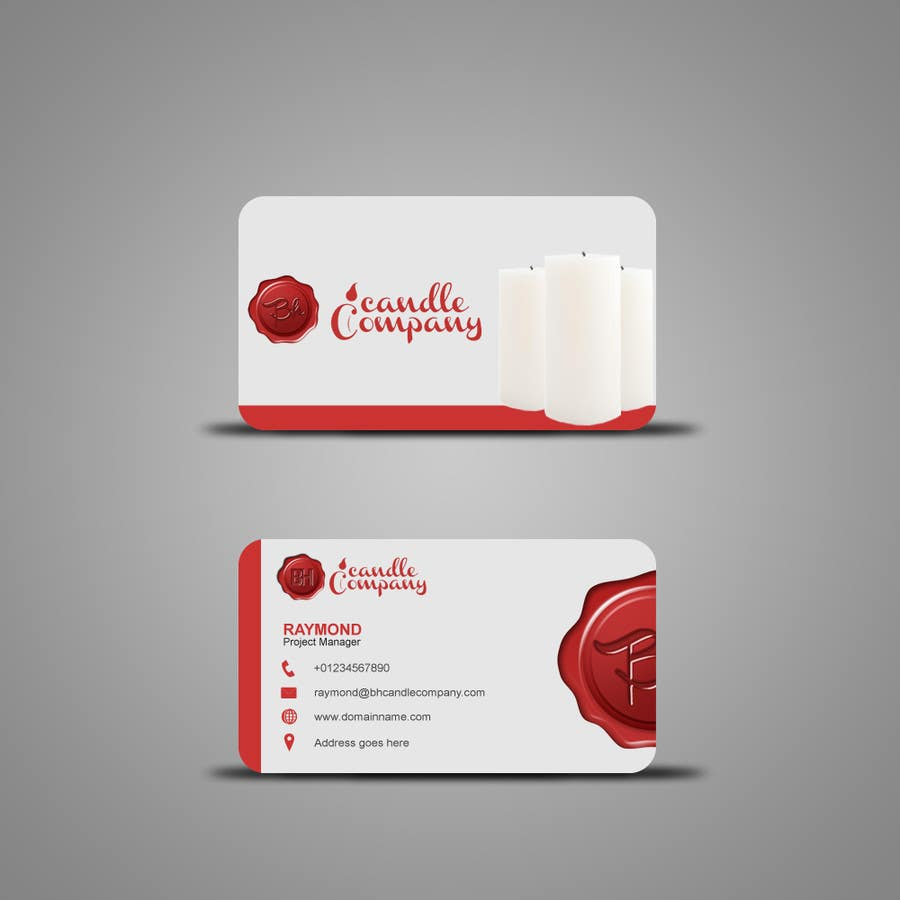 Wonderful candle business cards pictures inspiration business card entry 30 by syahriza for design a logo for bh candle company colourmoves Choice Image