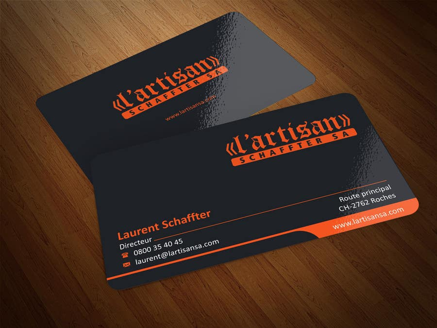 Orange Black Business Cards Gallery - Card Design And Card Template