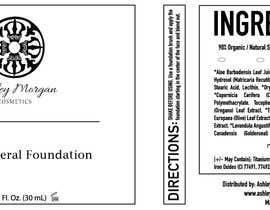 Nro 29 kilpailuun Create a Cosmetic Label for my Liquid Mineral Foundation käyttäjältä idrismkhalil
