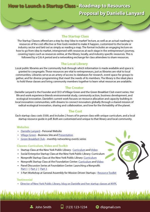 Kilpailutyö #63 kilpailussa Design a Proposal brochure for a new class to be offered