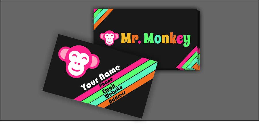 Entry 5 by vallabhvinerkar for design business cards for mr monkey contest entry 5 for design business cards for mr monkey reheart Choice Image