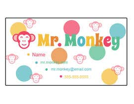 #24 untuk Design Business Cards for Mr. Monkey oleh crystalbrown86