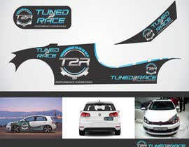 #3 para Sticker concept for Tuned2Race - vehicle wrap design por anicolada