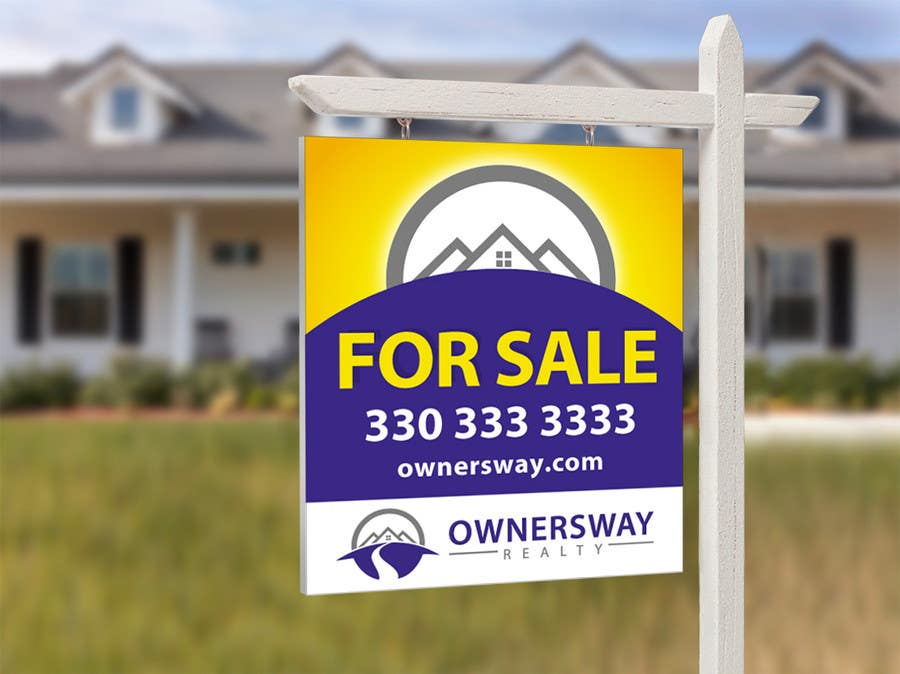 #34 for Ownersway real estate yard sign by NamalPriyakantha