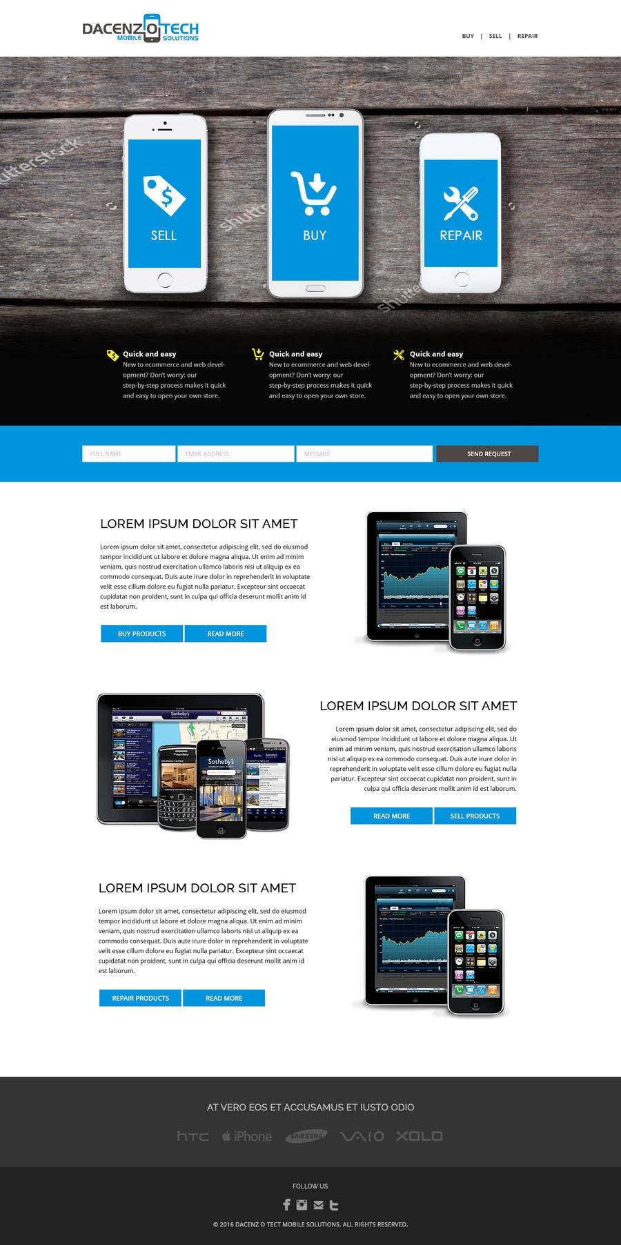 Kilpailutyö #58 kilpailussa Design a Website Mockup for a Mobile Device Company