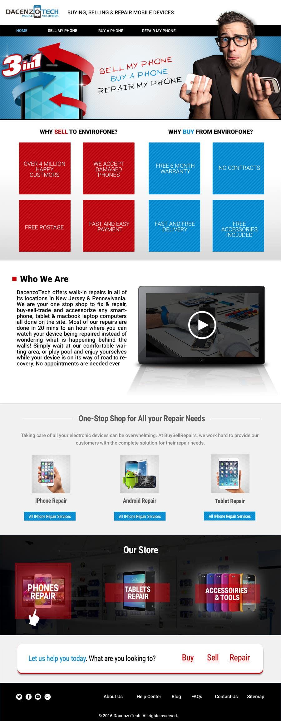 Kilpailutyö #39 kilpailussa Design a Website Mockup for a Mobile Device Company