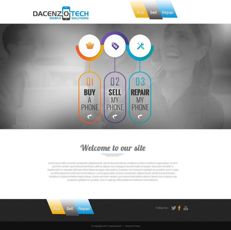 Kilpailutyö #51 kilpailussa Design a Website Mockup for a Mobile Device Company