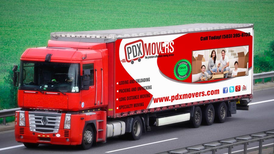 #46 for Box Truck Wrap Design by maxidesigner