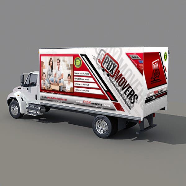 #52 for Box Truck Wrap Design by Arina95